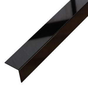 Kątownik ozdobny czarny błyszczący - do płytek - stalowy