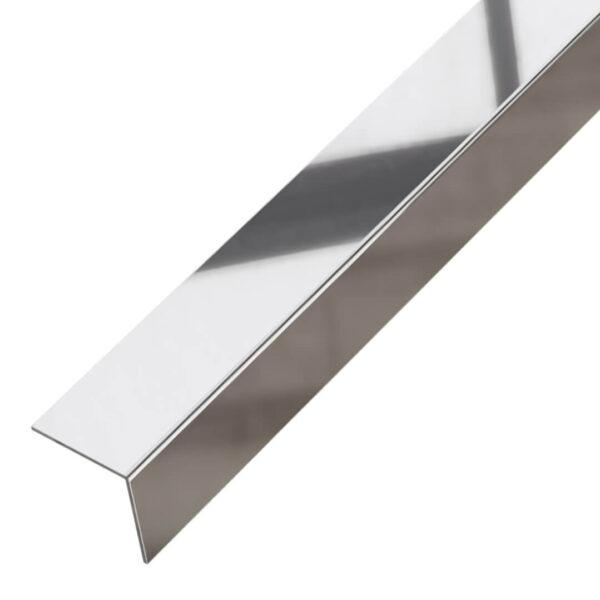 Kątownik ozdobny srebrny błyszczący - do płytek - stalowy