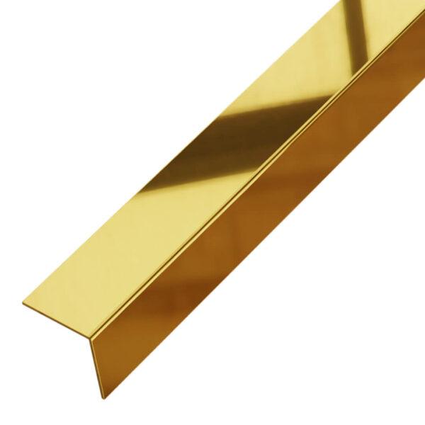 Kątownik ozdobny złoty błyszczący - do płytek - stalowy