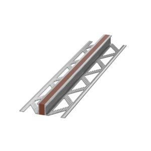 Listwa dylatacyjna wulkanizowana aluminium EPDM Brązowa
