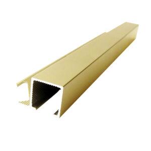 Listwa narożna aluminiowa kwadratowa anodowana złota ALQ