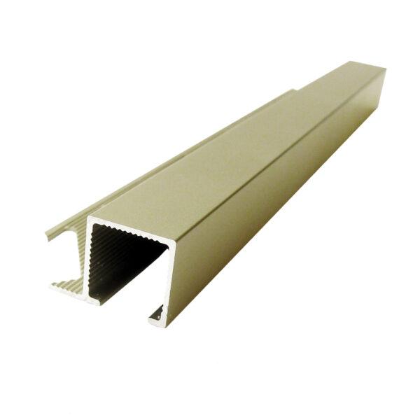 Listwa narożna aluminiowa kwadratowa anodowana oliwkowa ALQ