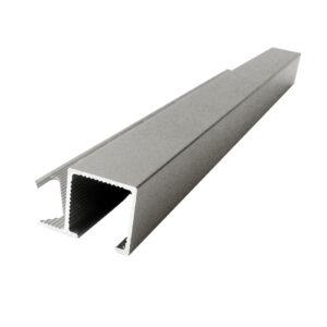 Listwa narożna aluminiowa kwadratowa anodowana srebrna ALQ