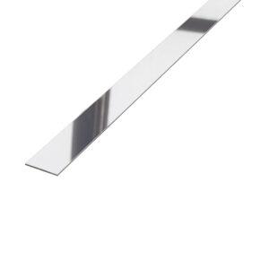Listwa płaskownik dekoracyjny stalowy srebrny błyszczący