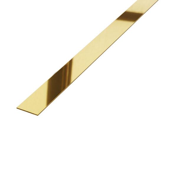 Listwa płaskownik dekoracyjny stalowy złoty błyszczący