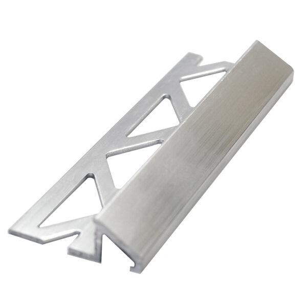 Listwa progowa skośna - łącząca - aluminiowa anodowana srebrna ALPS