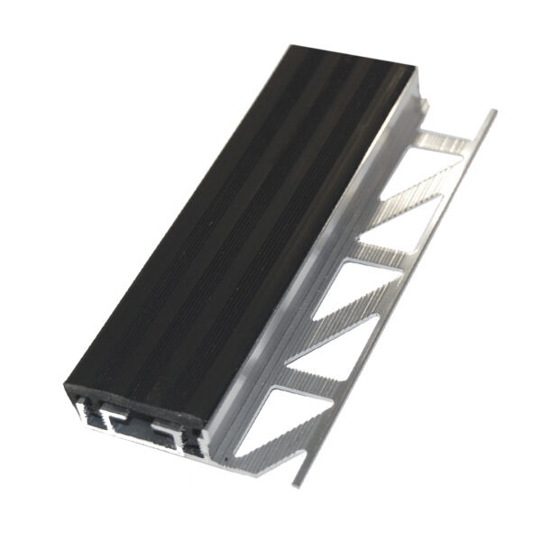 Listwa schodowa aluminiowa nakladka antyposlizgowa z pcw ALS czarna