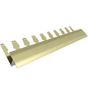 Listwa wykończeniowa do paneli aluminiowa - anodowana oliwkowa