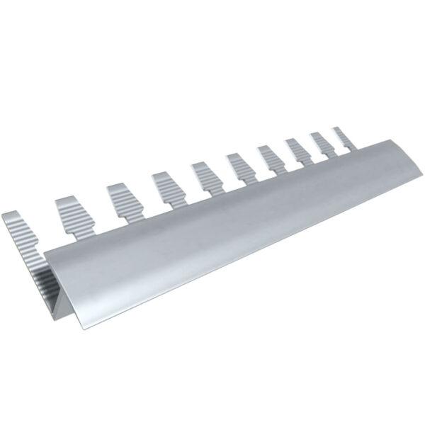 Listwa wykończeniowa do paneli aluminiowa - anodowana srebrna