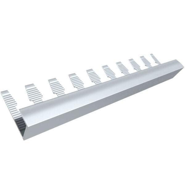 Listwa wykończeniowa do paneli aluminiowa anodowana srebrna