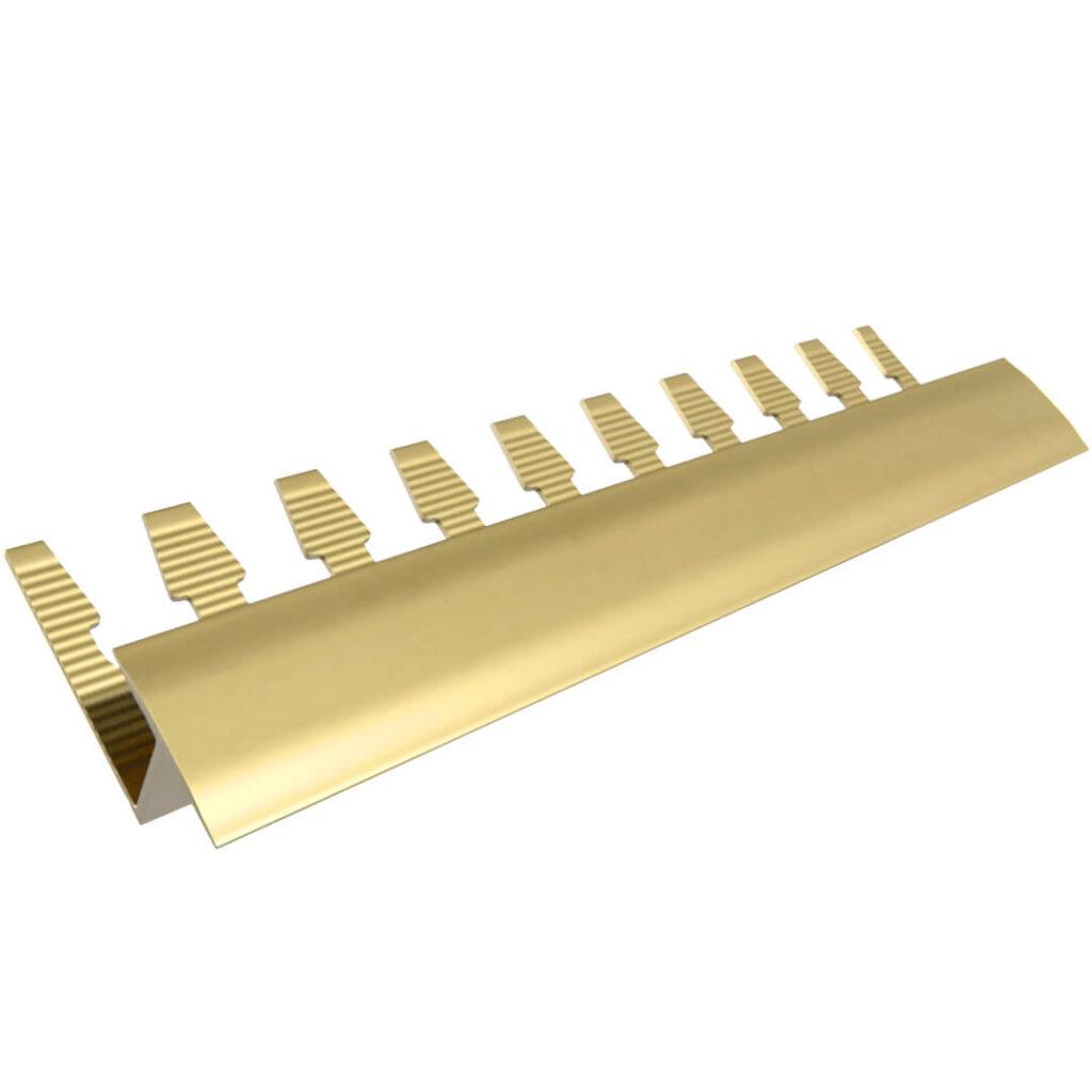 Listwa wykończeniowa do paneli aluminiowa - anodowana złota