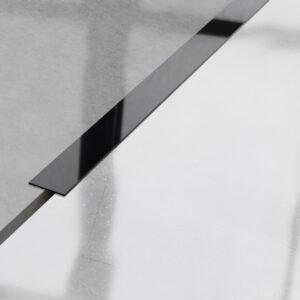 Metalowy płaskownik ozdobny stalowy czarny błyszczący