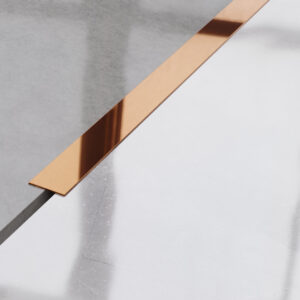 Metalowy płaskownik ozdobny stalowy miedziany błyszczący