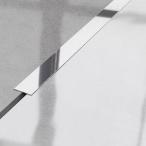 Metalowy płaskownik ozdobny stalowy srebrny błyszczący