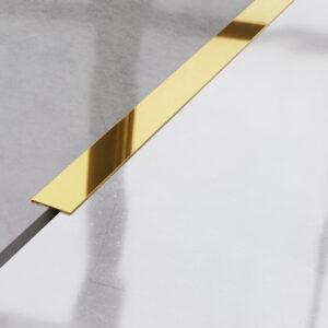 Metalowy płaskownik ozdobny stalowy złoty błyszczący