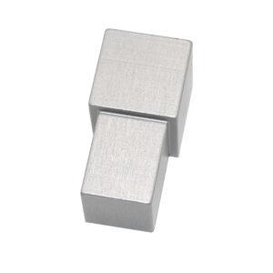 Narożnik zewnętrzny aluminiowy kwadratowy anodowany matowo srebrny ALNQ