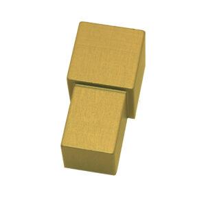 Narożnik zewnętrzny aluminiowy kwadratowy anodowany matowo złoty ALNQ
