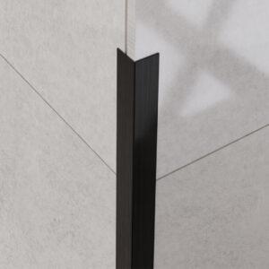 Narożnik dekoracyjny czarny matowy - do glazury - stalowy