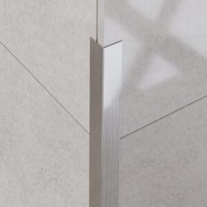 Narożnik dekoracyjny srebrny matowy - do glazury - stalowy