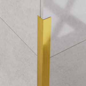 Narożnik dekoracyjny złoty matowy - do glazury - stalowy
