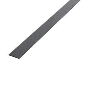 Płaskownik dekoracyjny stalowy czarny matowy