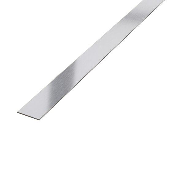 Płaskownik dekoracyjny stalowy srebrny matowy