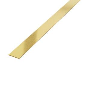 Płaskownik dekoracyjny stalowy złoty matowy