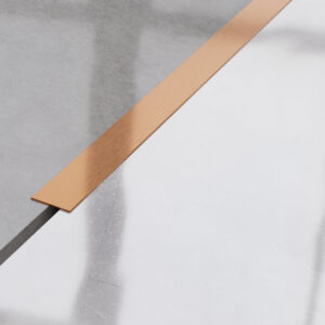 Płaskownik ozdobny stalowy miedziany matowy