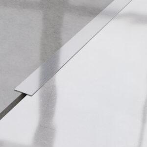 Płaskownik ozdobny stalowy srebrny matowy