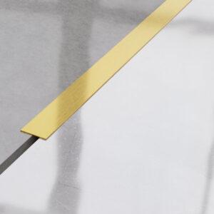 Płaskownik ozdobny stalowy złoty matowy