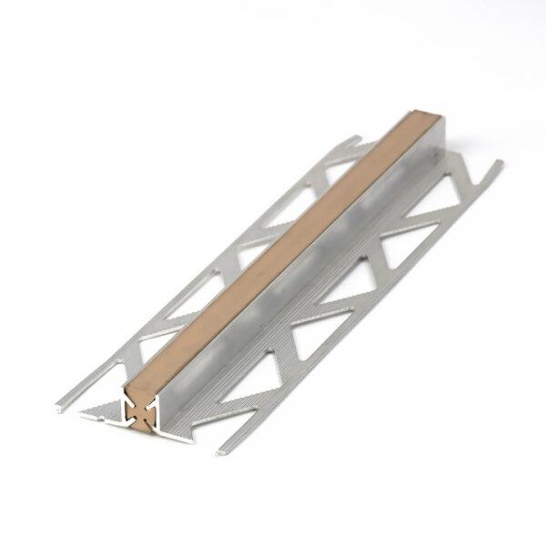 Profil dylatacyjny do płytek aluminium z PCV beżowe