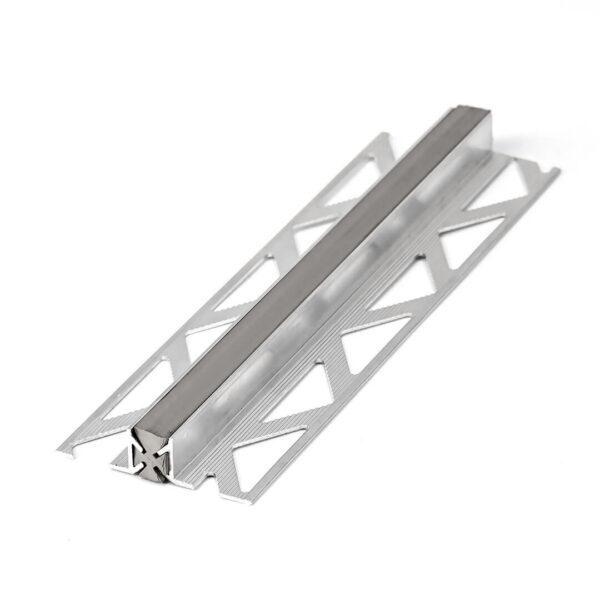 Profil podłogowy dylatacyjny aluminiowy z PCV szare