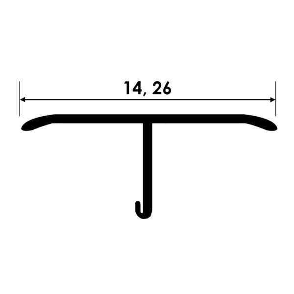 Teownik stalowy szczotkowany STT rysunek techniczny