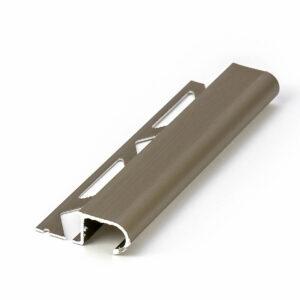 półokrągła aluminiowa listwa antypoślizgowa na schody w kolorze oliwkowym