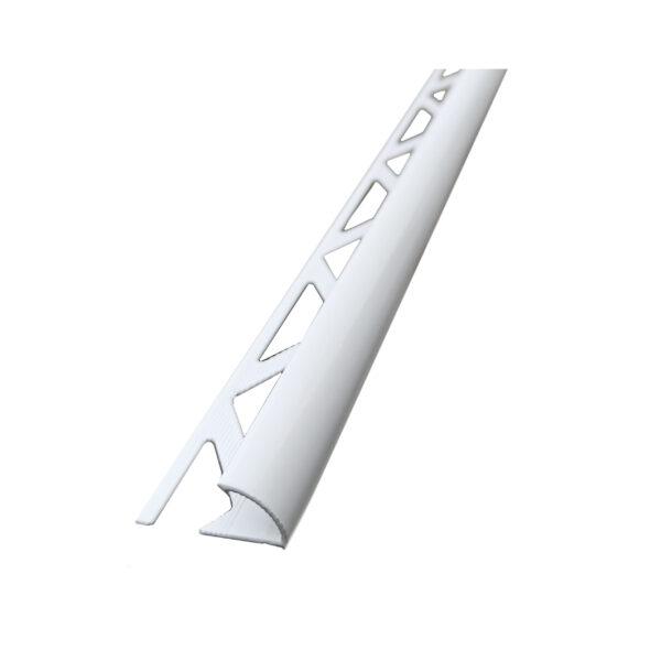 biała listwa półokrągła aluminiowa matowa