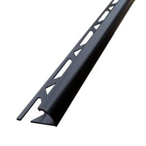 czarna listwa półokrągła aluminiowa matowa