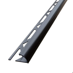 czarna listwa półokrągła aluminium lakierowane proszkowo
