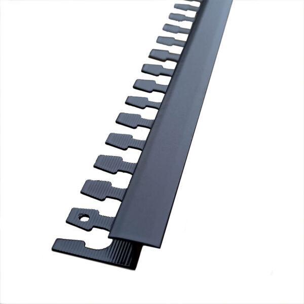 listwa łącząca panele z płytkami aluminiowa czarna półmat