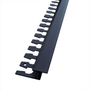 listwa łącząca panele z płytkami aluminiowa czarna matowa