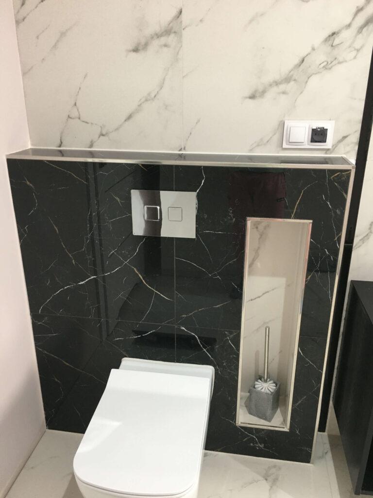listwa narożna do glazury w aranżacji w łazience
