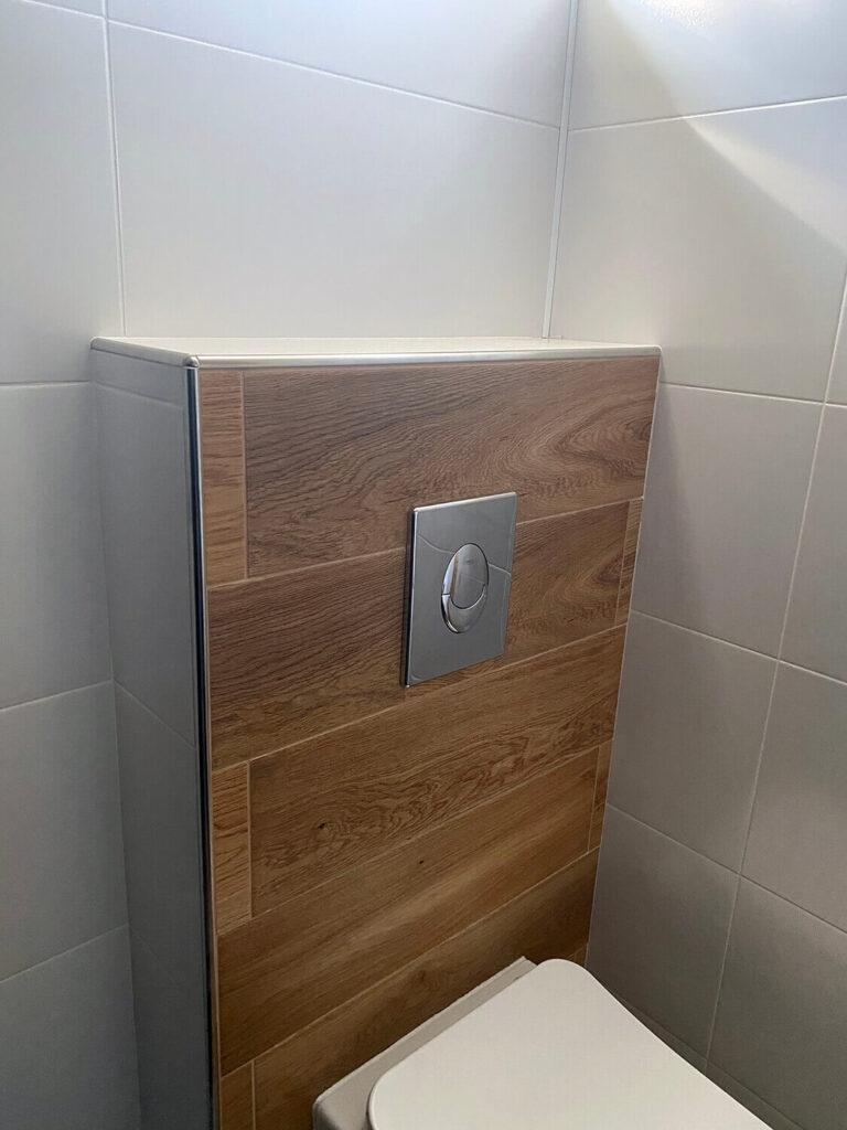 listwa półokrągła ze stali nierdzewnej w łazience