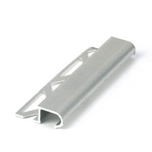 półokrągła listwa schodowa narożna z aluminium naturalnego