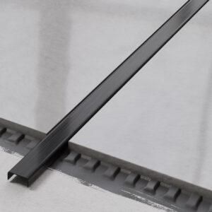 metalowa listwa ozdobna C stalowa czarny mat
