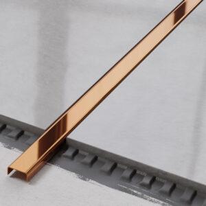 metalowa listwa ozdobna C stalowa miedziana polerowana