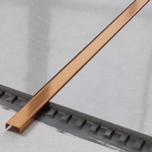 metalowa listwa ozdobna C stalowa miedziany matowy