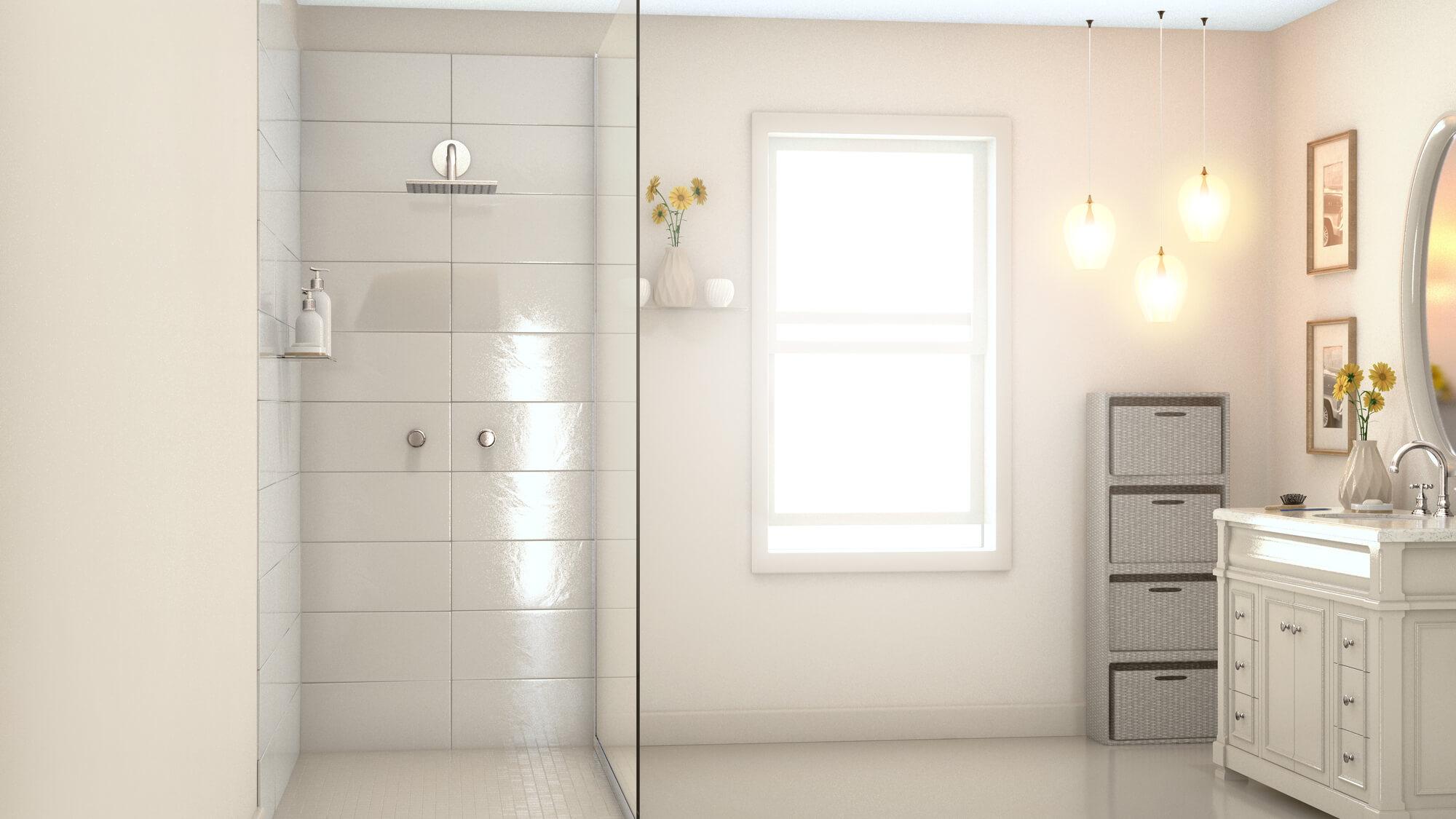 Półka pod prysznic bez wiercenia