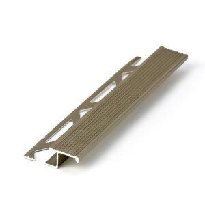 profil do wykończeń stopni schodowych z aluminium anodowanego w kolorze oliwkowym