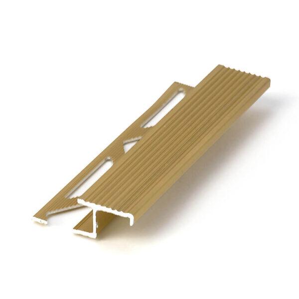 profil schodowy do płytek z aluminium anodowanego w kolorze złotym