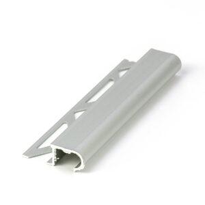 profil schodowy narożny z aluminium anodowanego srebrnego półokrągły